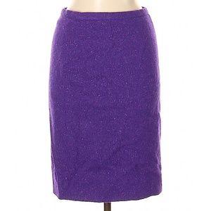 Moschino Cheap And Chic Purple Wool Skirt